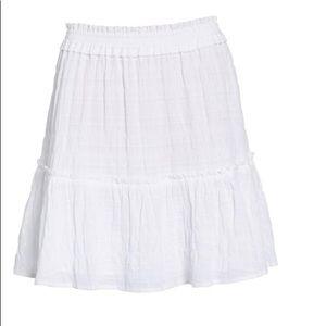 f258929d5 Caslon White Stretch Cotton Mini Skirt